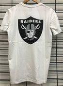 Majestic Athletic Oakland Raiders Jeaner Tee White MOR7020DB Famous Rock Shop Newcastle 2300 NSW Australia
