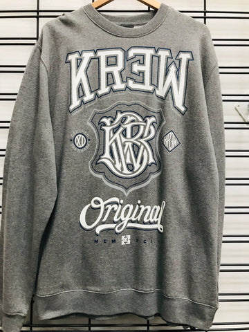 KR3W Champ 2 Crew Fleece Men's Grey Jumper