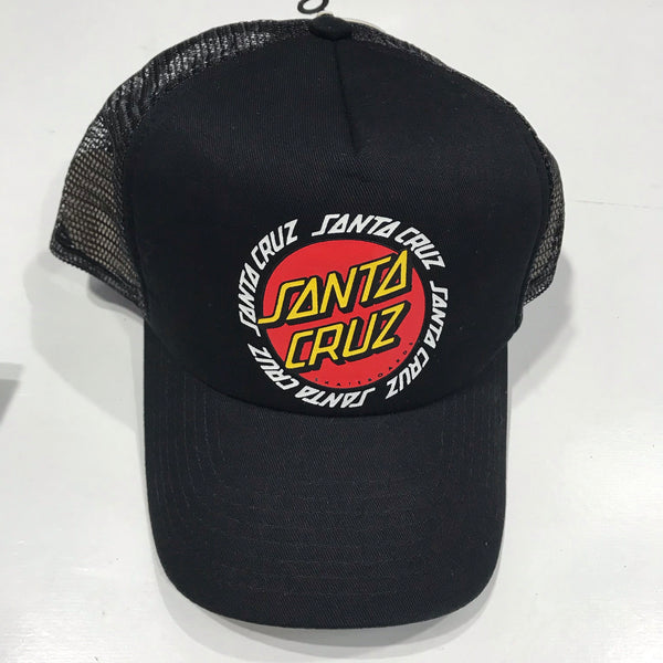 Santa Cruz Ringed Dot Trucker Black SC-MCA8834