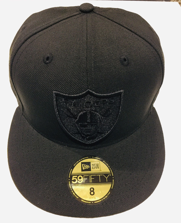 New Era 59Fifty NFL Oakland Raiders Fitted Cap Black Black 70362155