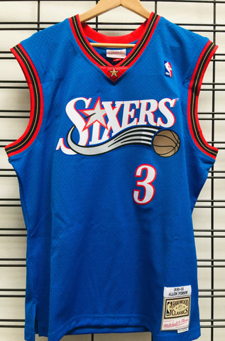 76ERS Allen Iverson 3 Royal NBA Swingman road Jersey Hardwood Classics Famous Rock Shop Newcastle 2300 NSW Australia