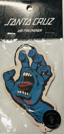 Santa Cruz Air Freshener Screaming Hand Vanilla White and Blue