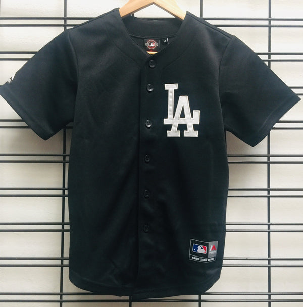 Majestic Athletic MLB LA Dodgers Kids Replica Baseball Jersey Black 7K3B7MAQ8