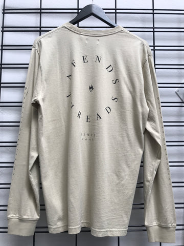 Afends Established Retro Fit Long Sleeve Tee Cement M191062
