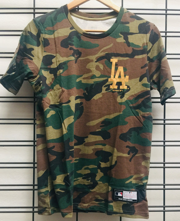 Majestic Athletic MLB LA Dodgers Chesney Kids Tee Camo Gold 7K387MARV Famous Rock Shop Newcastle, 2300 NSW. Australia.