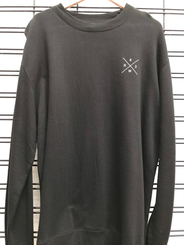 KR3W Cross logo Men's Black Jumper