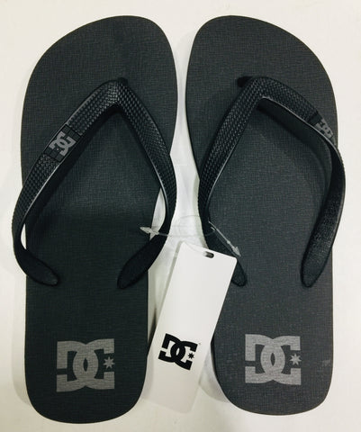 DC Shoes Men's Spray Thongs Black and Grey