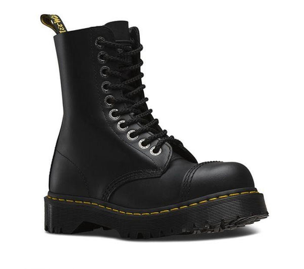 Dr Martens Boots black steel cap 10 Hole NON -SAFETY FOOTWEAR Famous Rock Shop Newcastle 2300 NSW Australia