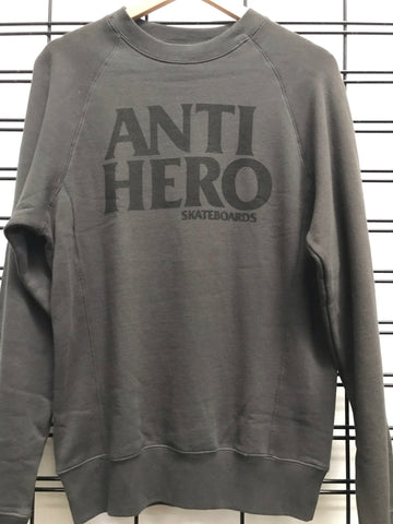 Anti Hero Skateboards Men's Grey and Black Fleece Jumper