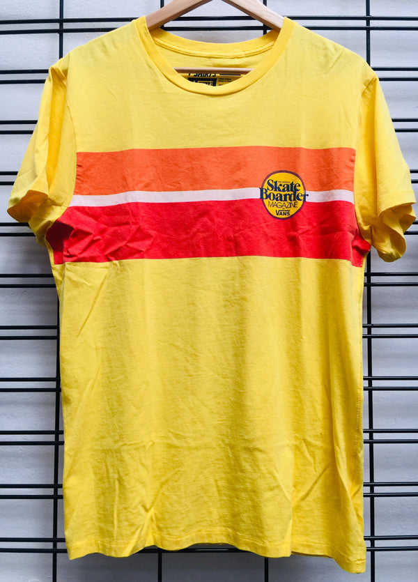 Vans Men's Classic Stripe Yellow Shirt