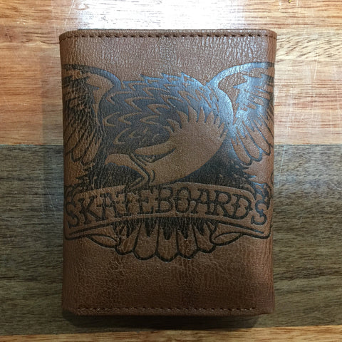 Anti Hero Skateboards Brown Eagle Wallet