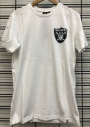Majestic Athletic Oakland Raiders Jeaner Tee White MOR7020DB Athletic Famous Rock Shop Newcastle 2300 NSW Australia