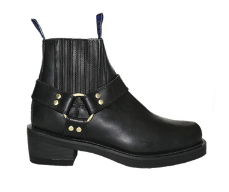Johnny Reb Classic Short Boot Leather Boots 500 Black JR18190413 Johnny Reb Boots Newcastle NSW 2300 Famous Rock Shop Newcastle 2300 NSW Australia