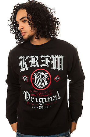 KR3W Presidente Black Crew Fleece