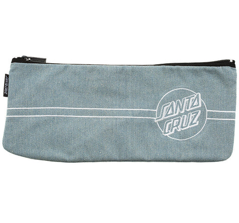 Santa Cruz Classic Keyline Embroidered Pencil Case Colour Light Denim SC-WAD7480 Santa Cruz Classic Light Denim Keyline Embroidered Pencil Case Famous Rock Shop Newcastle 2300 NSW Australia