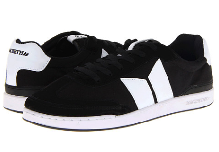 Macbeth Madrid Black White Suede Canvas