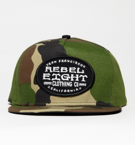 Rebel 8 Main Line Snapback Camo