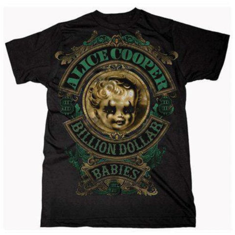 ALICE COOPER  BILLION DOLLAR BABIES MEN'S T-SHIRT