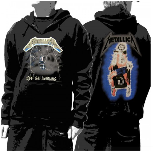 Metallica Hoodie Ride The Lightning  Unisex Pullover