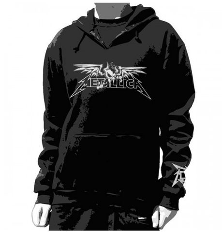 Metallica Hoddie Winged Scary - Unisex Pullover