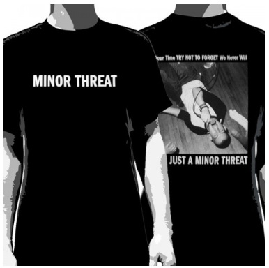 Minor Threat T-Shirt We're Just A Minor Threat Men's