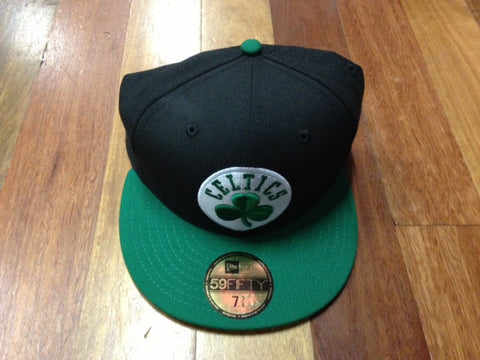 New Era 59fifty Celtics Fitted Cap Black Green