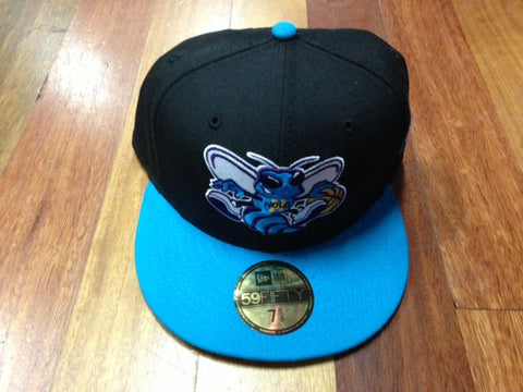 New Era 59Fifty Hornets Fitted Cap Black Bright Blue