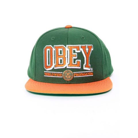 Obey Athletics Green Orange