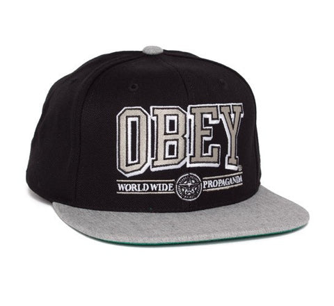 Obey Athletics Black Grey