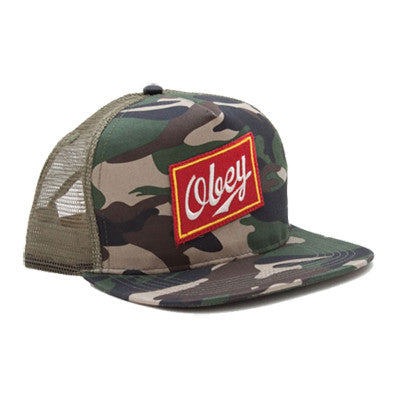Obey Malt Liquor Trucker Field Camo