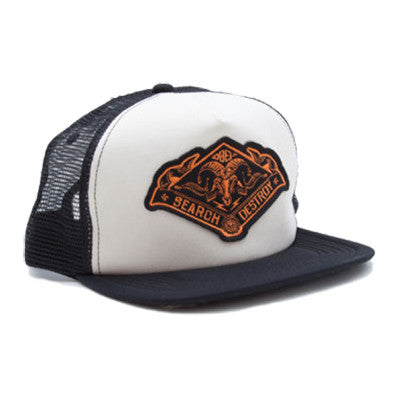 Obey Search & Destroy Trucker Olive Black