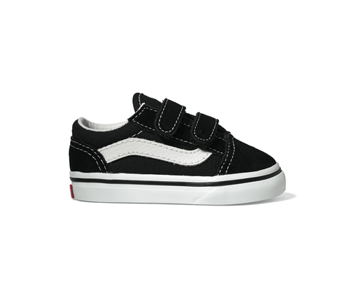 Vans Old Skool Black Toddlers Two velcro straps Upper  Toe and heel suede    Part f75e756d4