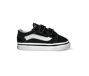 Vans Old Skool Black Toddlers Two velcro straps Upper: Toe and heel suede / Part Canvas VN-0D3YBLK.BLK shoe Famous Rock Shop Newcastle 2300 NSW Australia