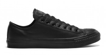 Converse Youth Ox Black Mono Leather shoes 343913C