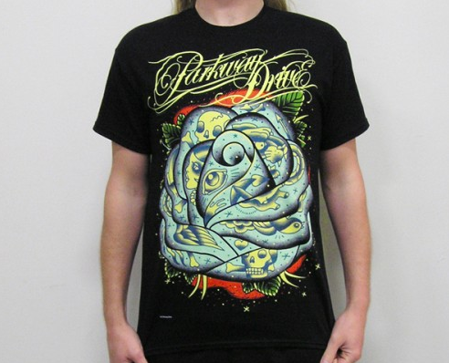 Parkway Drive T-Shirt Rose Tattoos