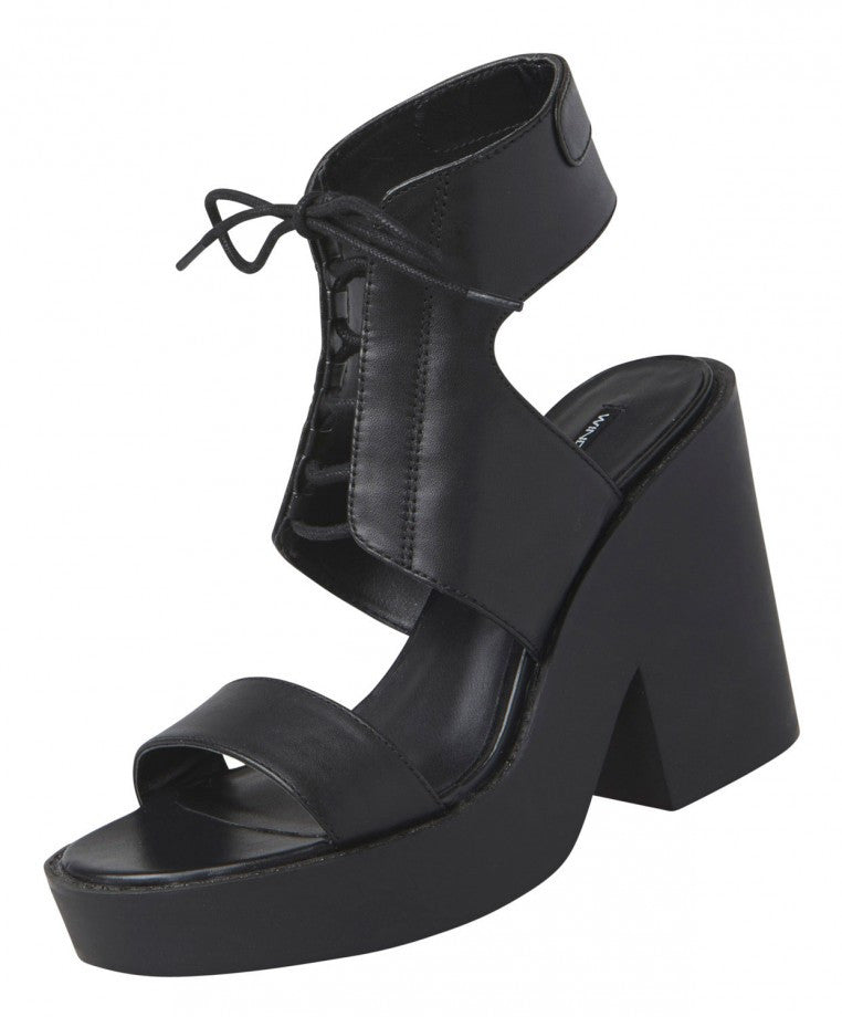 Windsor Smith Pippie Black Leather Heels