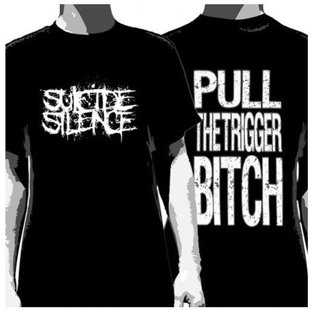 Suicide Silence Pull The Trigger T-Shirt Black Men's