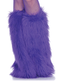 Furry Leg Warmers Purple