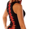 Full Back Corset Beater Tank Top Black with Red Ribbon