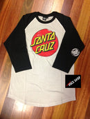 Santa Cruz Raglan Acid Wash Off White Famous Rock Shop  Newcastle, 2300 NSW Australia.