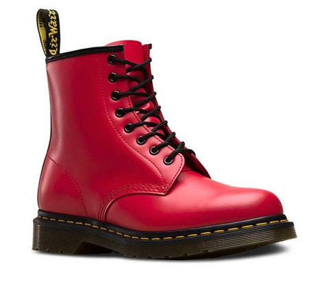 Dr Martens 1460 8 Eye Boot Satchel Red Smooth 24614636 Famous Rock Shop Newcastle 2300 NSW Australia