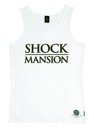 Shock Mansion Estate Jersey Singlet White