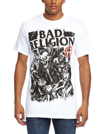 Bad Religion Skeletons T-Shirt White Men's