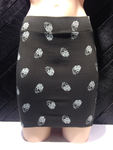 Iron Fist Skull A Dot Mini Skirt
