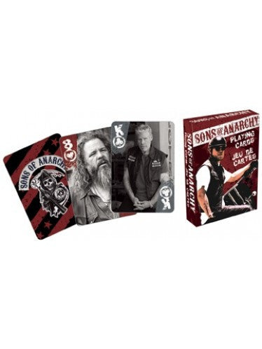 "Official deck of Sons Of Anarchy playing cards. Playing cards: 2.5"" W x 3.5"" L Famous Rock Shop Newcastle 2300 NSW Australia"
