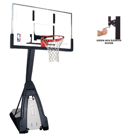 "Spalding Spalding Beast 60"" Portable Glass Backboard  Basketball  Basketball Systems Sport Star Pro Famous Rock Shop Newcastle 2300  NSW Australia"