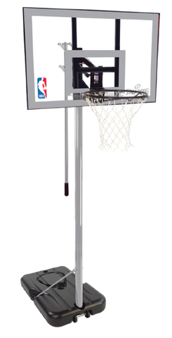 "Spalding Basketball Hoop NBA 44"" Silver Series Silver Portable"