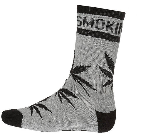DGK 'Stay Smokin' Crew Socks Single Pair - Athentic Heather/Black