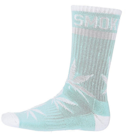 DGK 'Stay Smokin' Crew Sock Single Pair - Baby Blue/White