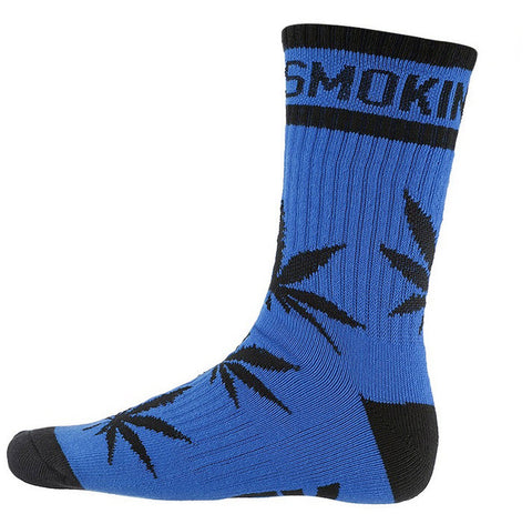 DGK 'Stay Smokin' Crew Socks Single Pair - Royal/Black